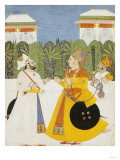 Maharaja Bhim Singh Receiving Maharaja Shiv Singh Nagaur  circa 1750