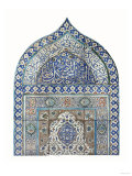 An Important Diyarbekir Tile Mihrab of Ogival Arched Form Comprising Twelve Tiles  circa 1570