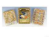 Three Silver-Gilt and Enamel Cigarette Cases