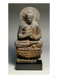 A Gandhara Grey Schist Figure of Buddha  2nd Century