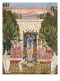 Worship of Shri Nathji  Probably Bundi or Kotah  circa 1825-50