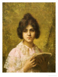 Young Woman Holding a Book