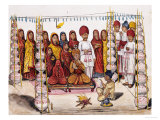 Scenes from a Marriage Ceremony: the Betrothal  Kutch School  circa 1845