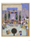 The Houghton Shahnameh: Folio 513v  an Aging Firdowsi Eulogizes Sultan Mahmud