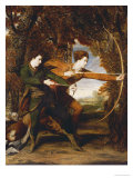 The Archers: a Double Portrait of Colonel John Dyke Acland and Thomas Townsend  1769