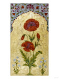 A Single Stem of Poppy Blossoms on Gold Ground  1770-80 AD