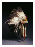 A Fine Sioux War Bonnet  Sewn with Twenty-Nine Eagle Feathers