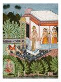 The Elopement of Dhola and Maru  Bundi circa 1750