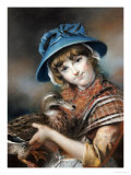 A Market Girl Holding a Mallard Duck  1787