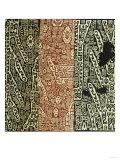 A Rare Huari Cotton Textile Resist-Dyed with Erratic Geometric Motifs