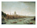 A Panoramic View of the City of London from the Thames Near the Water Gate of Somerset House