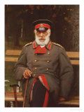 Portrait of a Russian General Seated on a Bench  1882