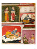 Illustration to Rasikapriya of Keshau Das  Mewar  Early 17th Century