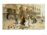 The Pigeons of St Mark's  Venice  1876