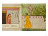 The Sinned Against  Illustration to the Rasikapriya of Keshav Das circa 1750-1760