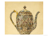 Design for an Ovoid Silver-Gilt Cloisonne Enamel Coffee Pot