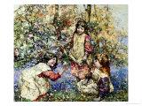 Gathering Primroses  1919