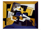 A Violin and Glass, 1918 Giclée par Juan Gris