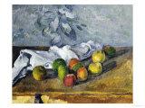 Apples and a Napkin Giclée par Paul Cézanne