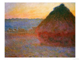 Haystacks  Pink and Blue Impressions  1891