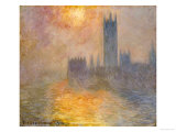 Parliament at Sunset  1904