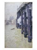 La Seine En Decembre  circa 1892