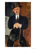 Seated Man (Leaning on a Cane)  1918