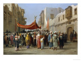 An Arab Wedding Procession  1888