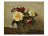 Red and Yellow Roses  1879