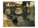 Washerwomen in the Morning at Quimperle  1902