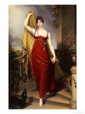 The Hon Mrs Thomas Hope  Full Face in a Red Velvet Dress  Painted 1813