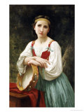 Basque Gipsy Girl with Tambourine
