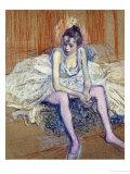 A Seated Dancer with Pink Stockings, 1890 Giclée par Henri De Toulouse-Lautrec