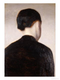 A Girl from Behind  Half Length  circa 1884