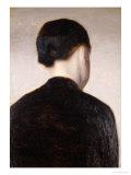 A Girl from Behind  Half Length  circa 1884