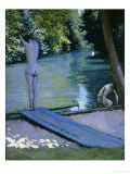Bather About to Plunge Into the River Lyrres