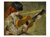 Girl with a Guitar, 1897 Giclée par Pierre-Auguste Renoir