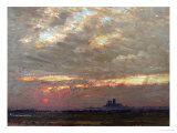 Lincoln Cathedral at Sunset  1912