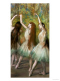 Green Dancers, 1878 Giclée par Edgar Degas