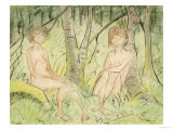 Two Women in the Forest  circa 1925