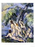 Bathing Study for Les Grandes Baigneuses, circa 1902-1906 Giclée par Paul Cézanne