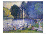The Lake in the Bois de Boulogne  circa 1899