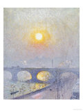 Sunset Over Waterloo Bridge  1916