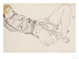 Reclining Woman with Blond Hair  1912