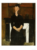 Woman Sat by a Fireplace  1915