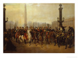 Napoleon with Staff in Place de la Concorde Paris