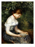 The Reader (A Young Girl Seated)  1887