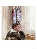 Portrait of a Man in Church  1900