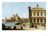 Entrance to Grand Canal  Venice  with Piazzetta and the Church of Santa Maria Della Salute
