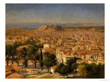An Extensive View of Athens with the Acropolis  Greek School
